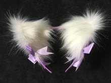 Load image into Gallery viewer, Stunning white & lilac kitten- wolf Play Set
