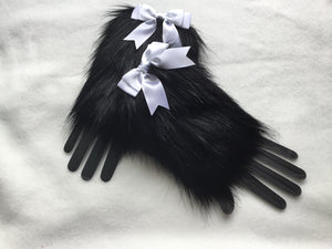 Luxury Black Faux Fur Cuffs