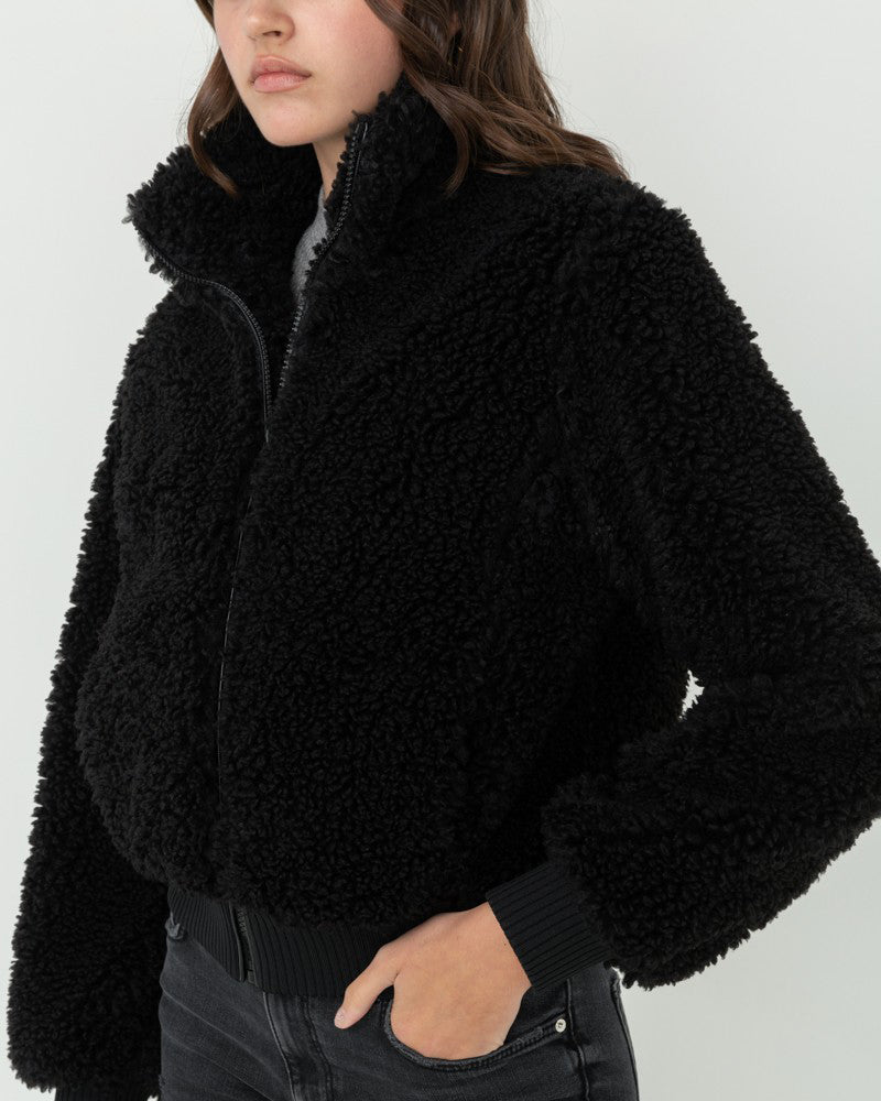 FUR THE WIN BOMBER TEDDY JACKET