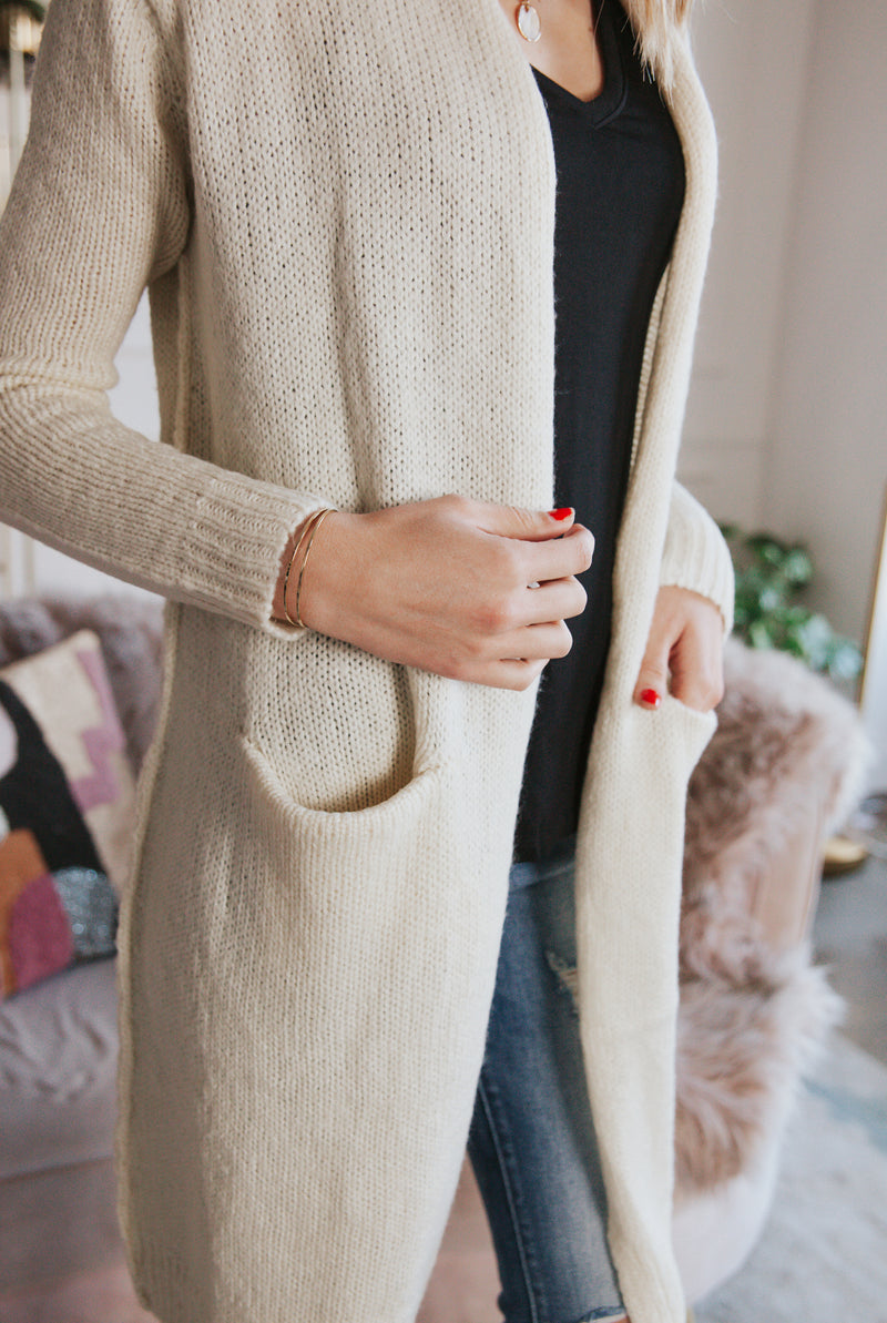 May B. Chic All The Feels Cozy Cardigan