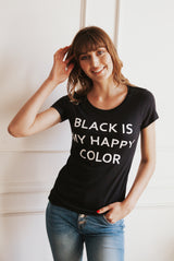 May B. Chic Black Is My Happy Color Tee
