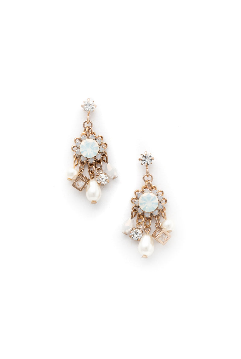 May B. Chic Bloom Opal Chandelier Earrings