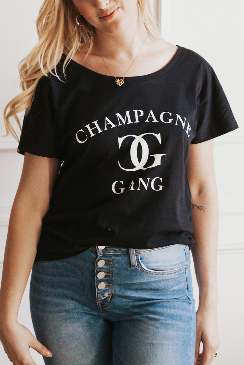 May B. Chic Champagne Graphic Tee