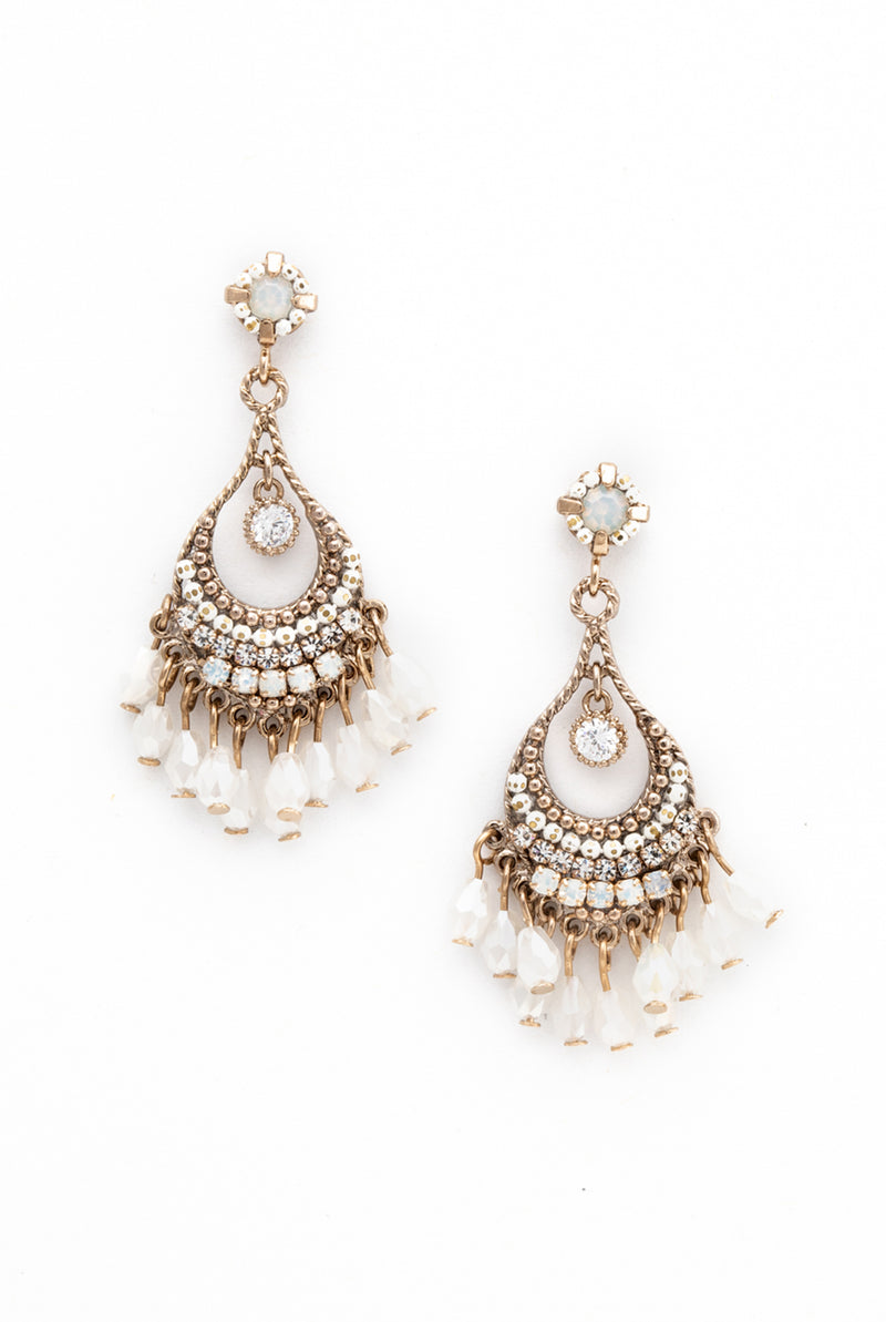 May B. Chic Coco Beaded Chandelier Earrings