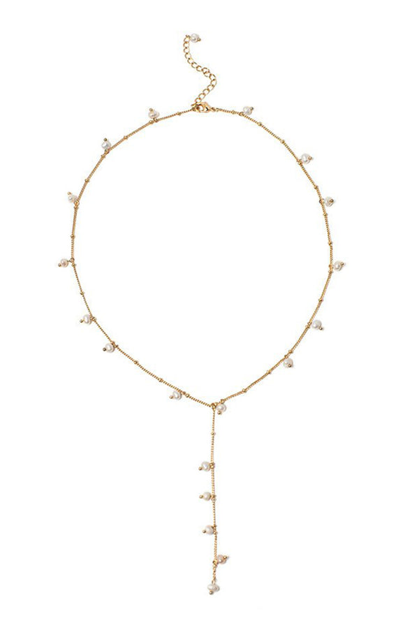 May B. Chic Dot Pearl Lariat