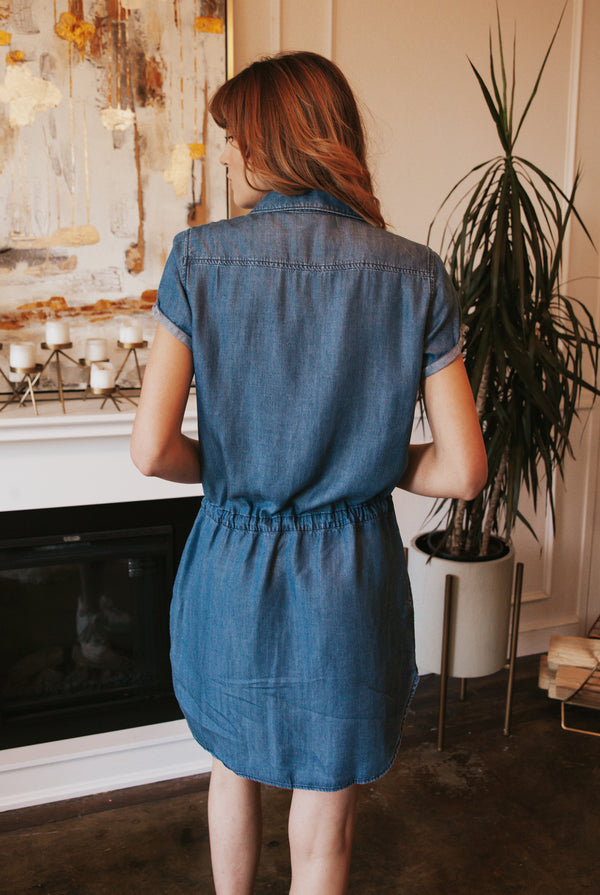 May B. Chic Get It Done Denim Dress