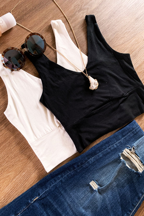 Hailey Crop In Black