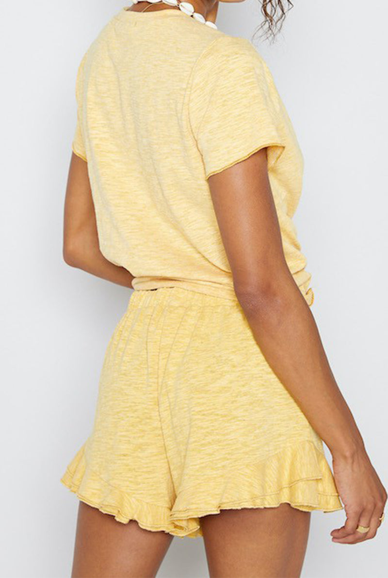 May B. Chic Hello Sunshine Yellow Lounge Shorts
