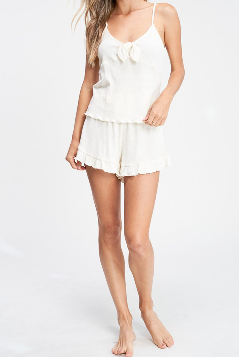 Jeannie Lounge Tank In Ivory