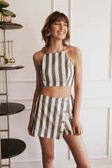 May B. Chic Julia Striped Two Piece Set