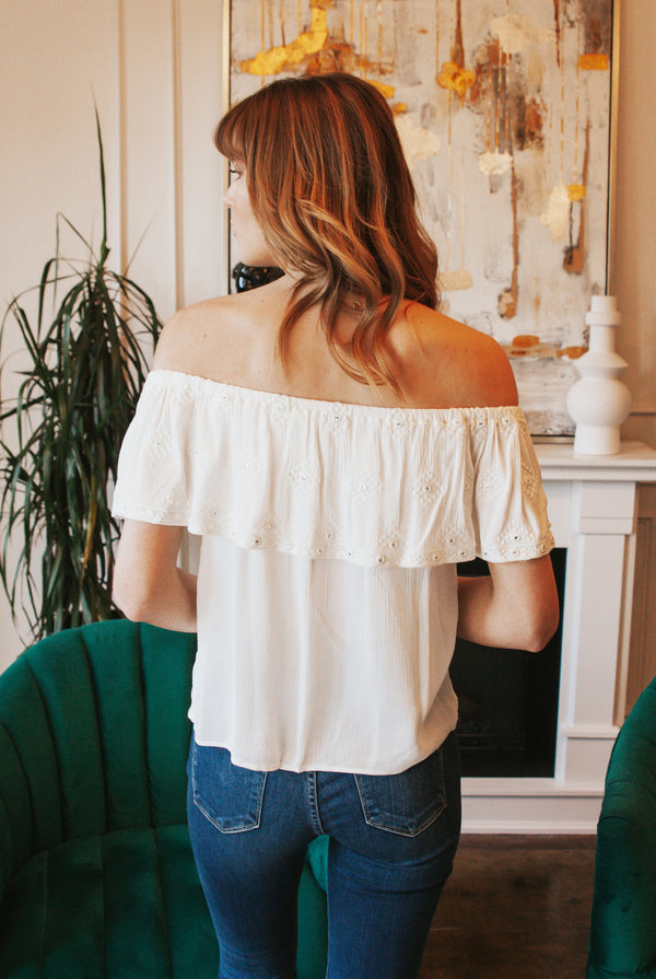 May B. Chic Juliet Off The Shoulder Top