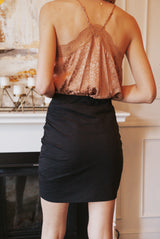 May B. Chic Knockout Cinched Skirt