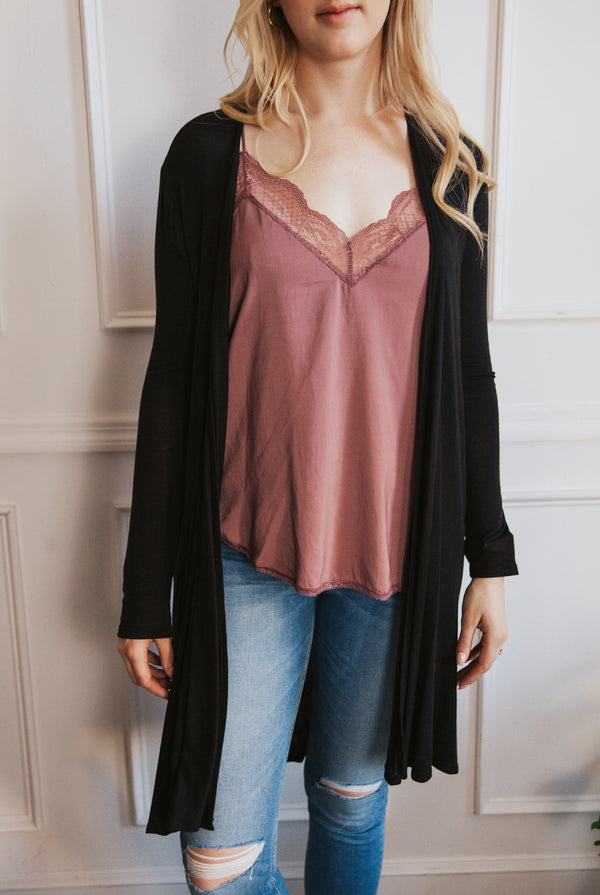 May B. Chic Noir Cardigan