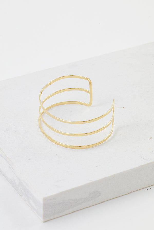 May B. Chic Sayla Hammered Bangle