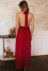 May B. Chic Siren Red Maxi Dress