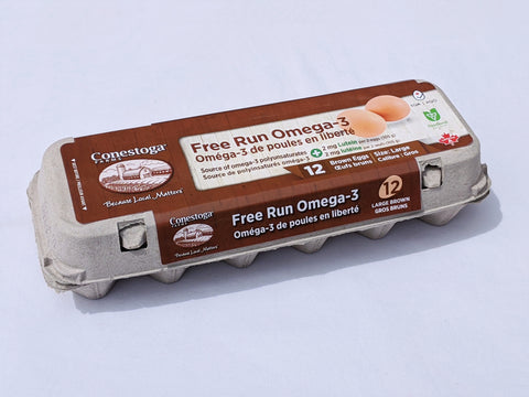 Conestoga Farms Free Run Omega-3 Eggs (1 dozen)