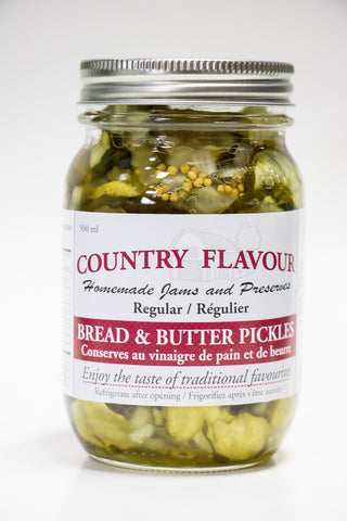 Country Flavour Bread & Butter Pickles (500g)