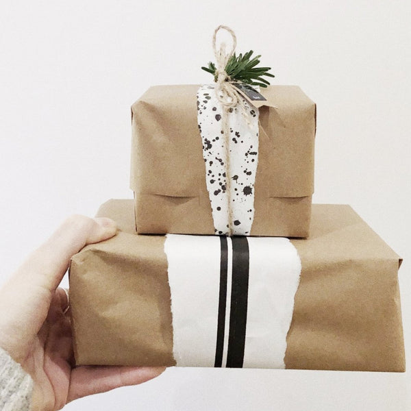 We will transform your purchase into a beautifully wrapped gift. It will be all wrapped up in eco-friendly wrapping paper. Then tied up with gorgeous accessories. Send your purchase, with a card, straight to the recipient.