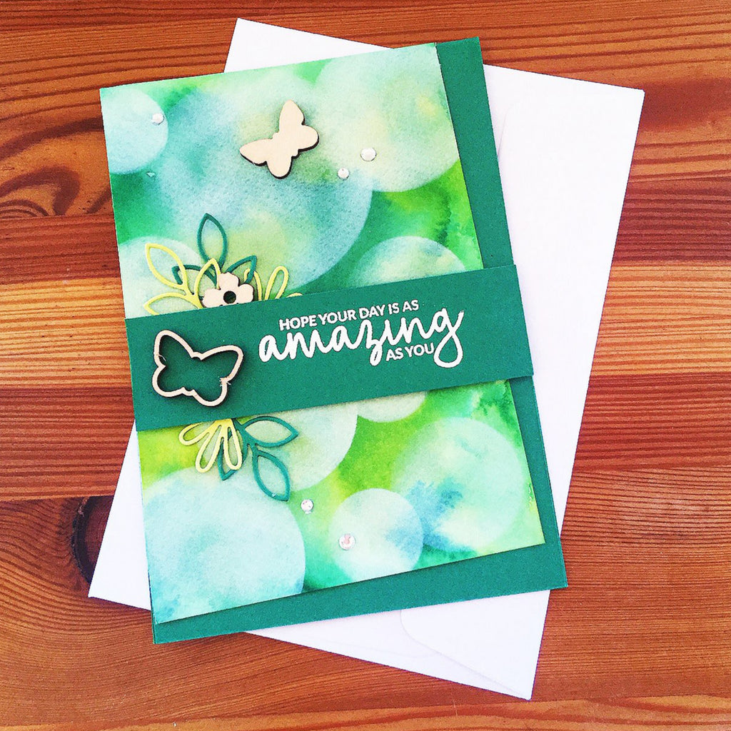 Bright and cheerful handmade birthday card.