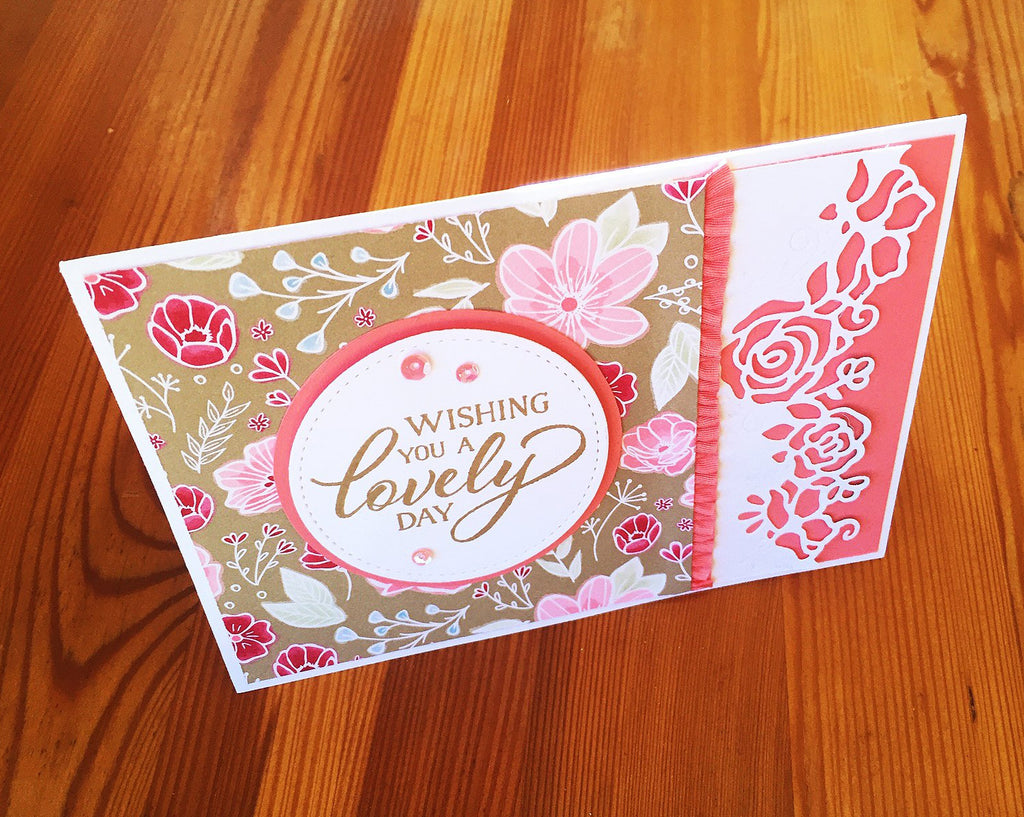 This card could easily suit many occasions given that the sentiments inside and out are generic. Choose almost any celebration from a birthday, anniversary, wedding and engagement to congratulations.