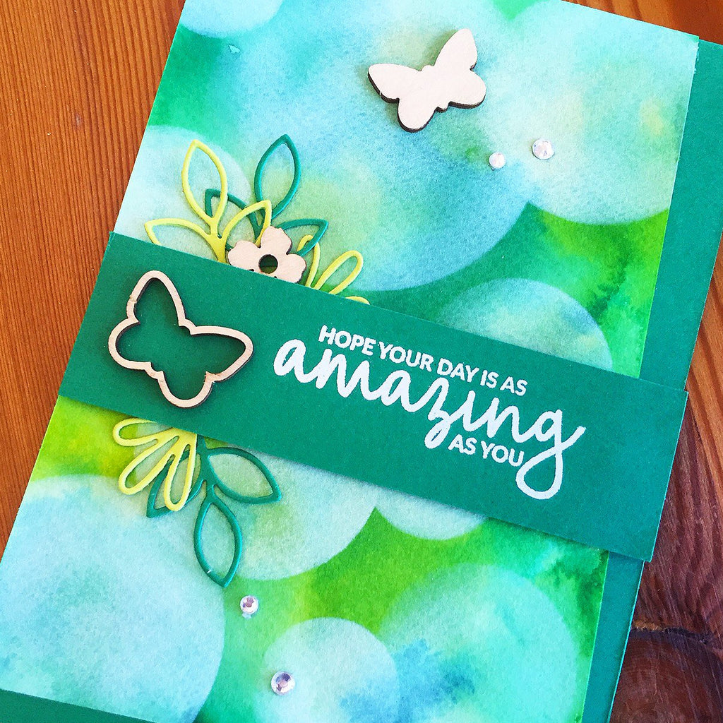 Botanical Butterflies birthday card with inside sentiment.