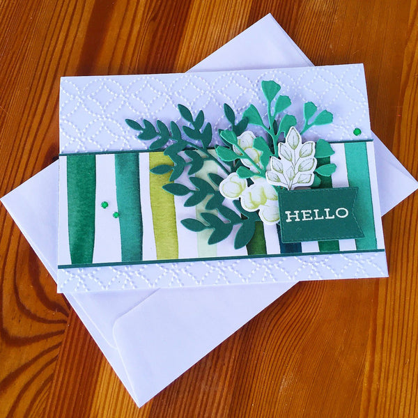 Handmade Forever Greenery Friendship Card.