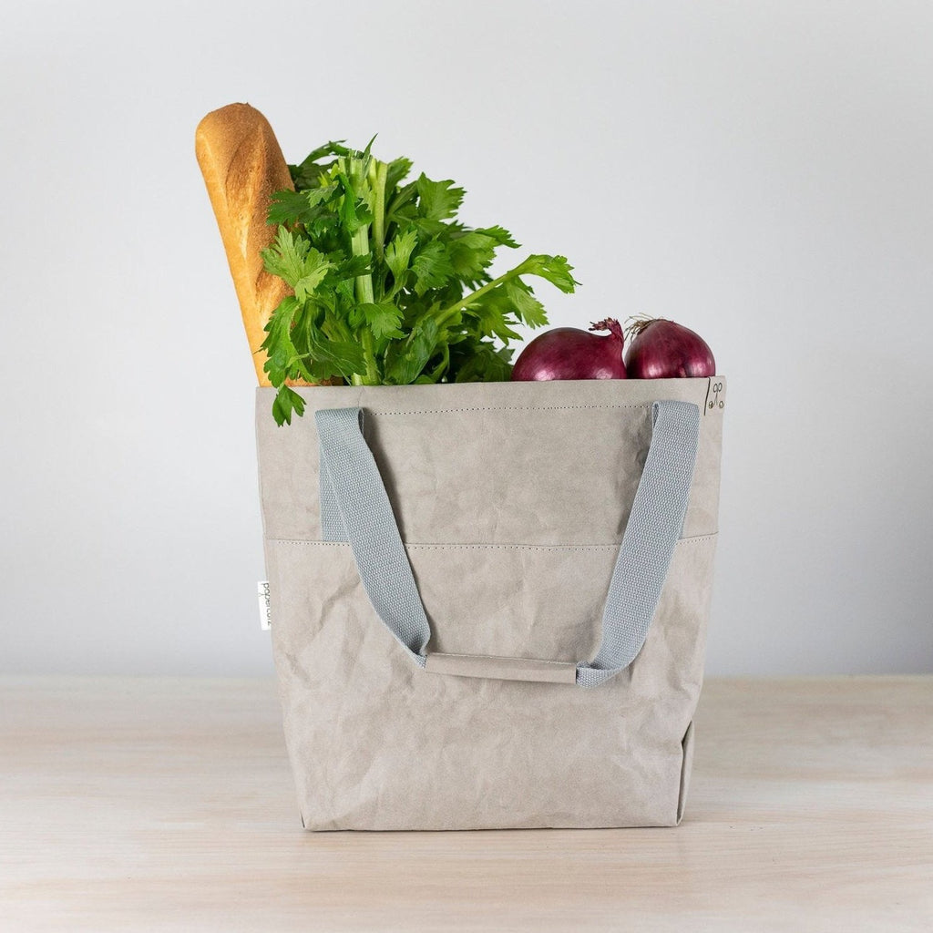 The Washable Paper 'shopping tote' is very versatile with many uses – take it to the markets, a day at the beach, to the office or even as carry on luggage when travelling.