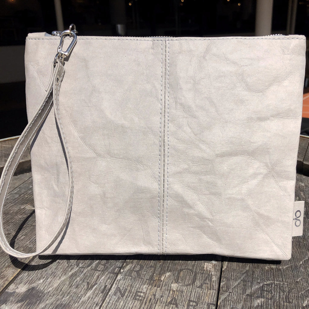 The Washable Paper clutch is a clutch but not just a clutch, it has multiple uses – make-up/toiletry bag or store items in when travelling are other ideas.