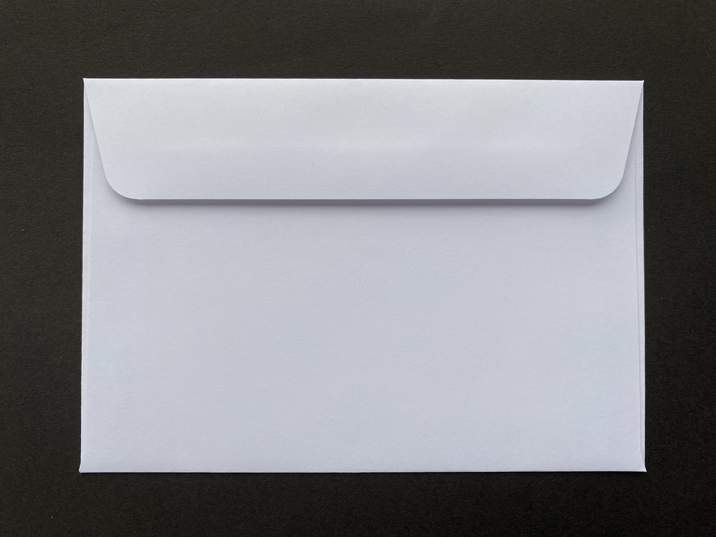130x185mm white envelopes