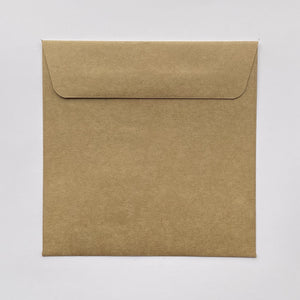 130mm square coloured envelopes
