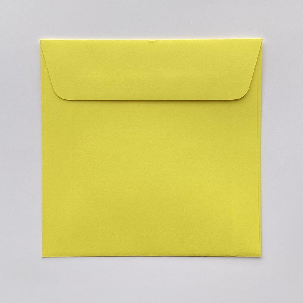 165mm square coloured envelopes