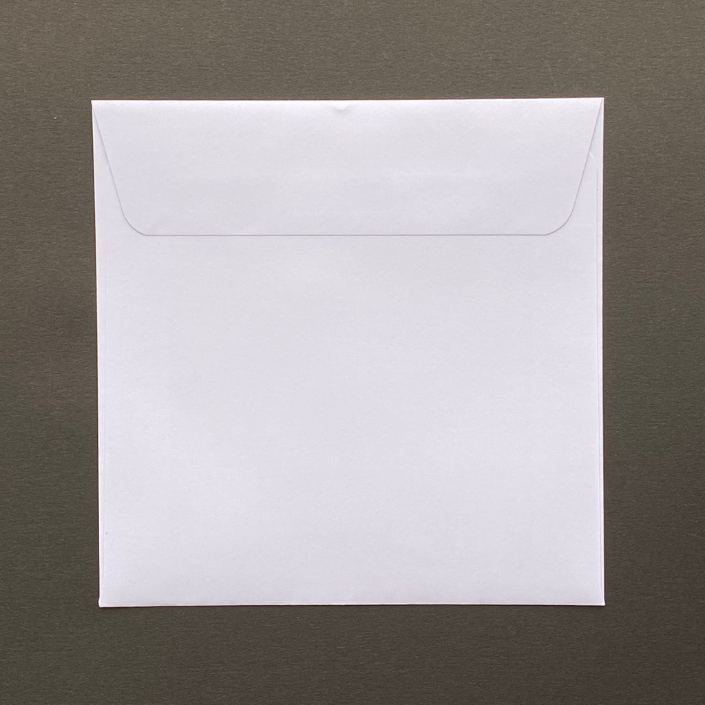 140mm square white envelopes