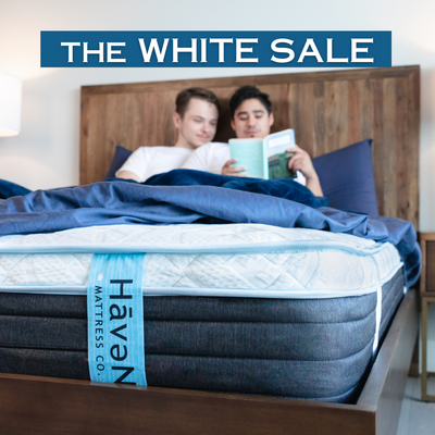 "The WHITE Sale (SAVE 25% off 12"" Hybrid Mattress)"