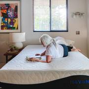 "women laying on Haven Sleep Co 10"" Rejuvenate"