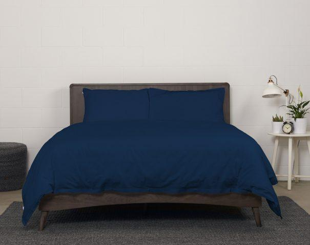 Sateen Duvet Cover (Navy, Grey or White)