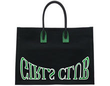 Load image into Gallery viewer, GIRLS CLUB BLACK CANVAS TOTE