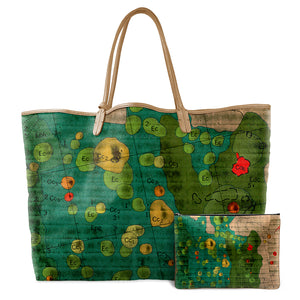 APOLLO GREEN LEATHER TOTE