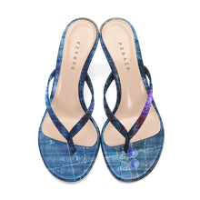Load image into Gallery viewer, INVERTED APOLLO BLUE HEEL SANDALS