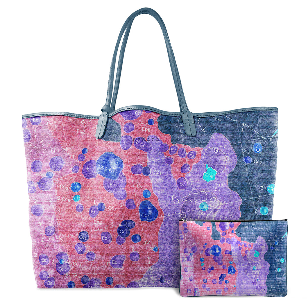 INVERTED APOLLO PINK LEATHER TOTE