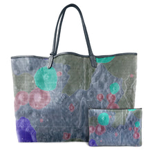 Load image into Gallery viewer, INVERTED ALPHONSUS BLUE LEATHER TOTE