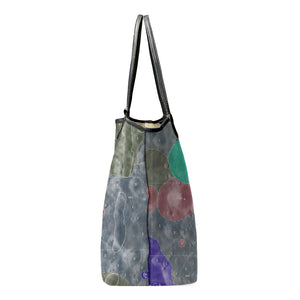 INVERTED ALPHONSUS BLUE LEATHER TOTE