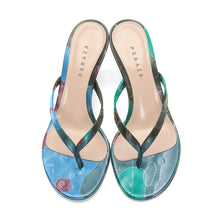 Load image into Gallery viewer, INVERTED ALPHONSUS TEAL HEEL SANDALS