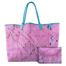 Load image into Gallery viewer, LETRONNE PINK LEATHER TOTE