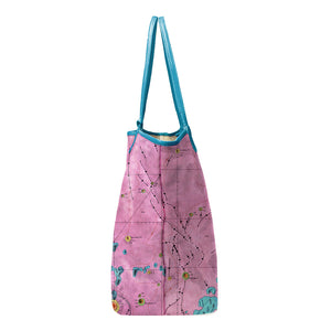LETRONNE PINK LEATHER TOTE