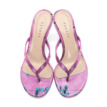 Load image into Gallery viewer, LETRONNE PINK HEEL SANDALS