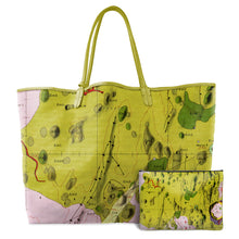 Load image into Gallery viewer, HEVELIUS LIME LEATHER TOTE