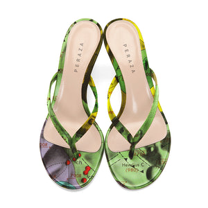 HEVELIUS MULTICOLOR HEEL SANDALS