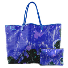 Load image into Gallery viewer, INVERTED HEVELIUS BLUE LEATHER TOTE