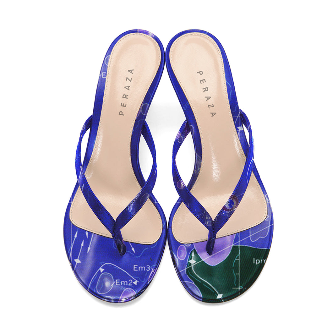 INVERTED HEVELIUS BLUE HEEL SANDALS
