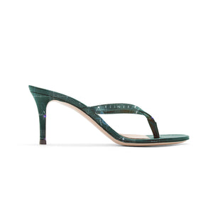 INVERTED HEVELIUS GREEN HEEL SANDALS